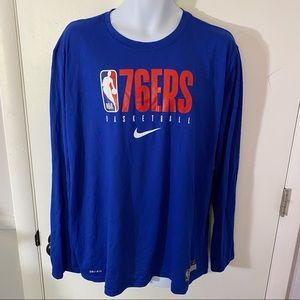 Mens Nike Dri-Fit NBA Philadelphia 76ers Shirt XXL